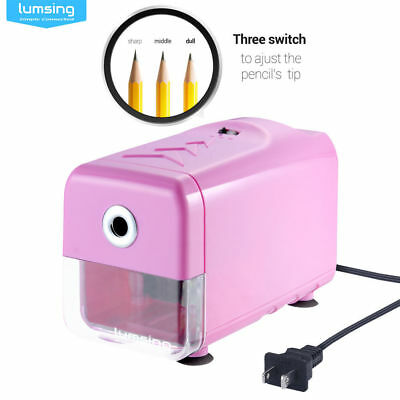 Lumsing 110V Electric Pencil Sharpener Fast Sharpening Home School Office Tool