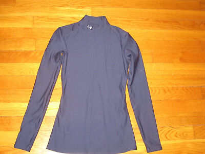 Under Armour Coldgear Long Sleeve Navy Blue Compression Jersey Womens Small Exc.