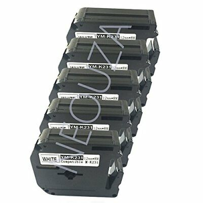 "NEOUZA 5PK Compatible for Brother M Series Label Tape Cartridge 12mm x 8m 1/2"" x"