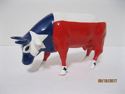 Cow Parade Item No. 9209 ~Mooooving Flag of Texas~ Dated 2002~ VGC