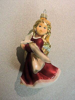 Krebs Lauscha Blown Glass Christmas Ornament Goebel PEACEFUL BLESSING Annual '02
