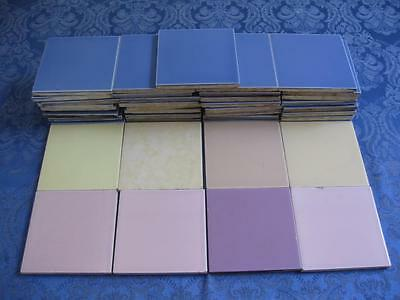 41 Vintage Gladding McBean Hermosa Purple Lavender Yellow Pink Ceramic Tiles