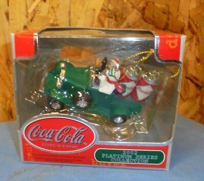 2002 Platinum Series Collection COCA-COLA Christmas Ornament Truck