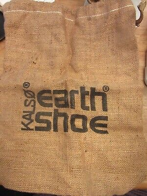 Vintage 1970s Anne Kalso Earth Shoe Burlap Bag