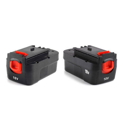 2 Pack 18V Battery for Black & Decker HPB18 HPB18-OPE 244760-00 A1718 A18