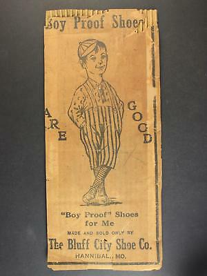 CIRCA1900 BUFF CITY SHOW COMPANY SHIPPING BOX PANNEL with BOY PROOF IMAGERY