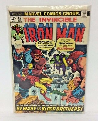 Iron Man #55 MARVEL 1973 - 1st Appearance Thanos, Drax, Mentor, Starfox! KEY