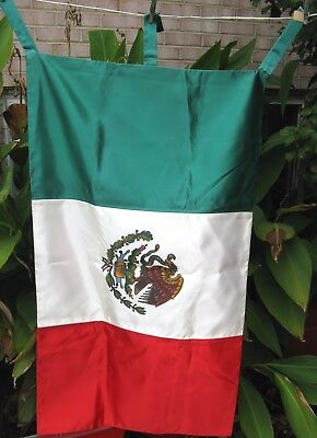 """MEXICAN FLAG 23"""" x 41"""" Banner - Looks Unused - Flag of Mexico"""