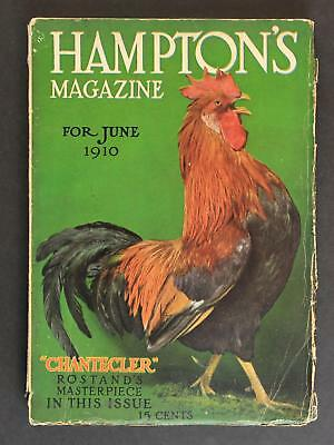 1910 HAMPTON'S Magazine~ROOSTER CHICKEN Cover~136 Pages~COCA COLA AD ++