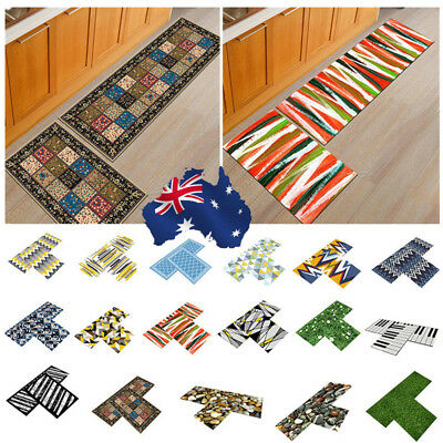 AU Non Slip Kitchen Floor Mats Bathroom Door Entrance Area Rug Carpet Runner Pad
