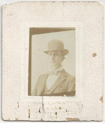 Photograph of Young Man w/ Mason Lapel Pin Pennell Junction City Kansas