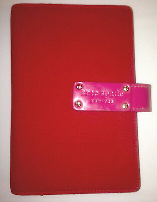 Kate Spade 2010 Anne Red Pink Canvas Personal Agenda Planner Refillable