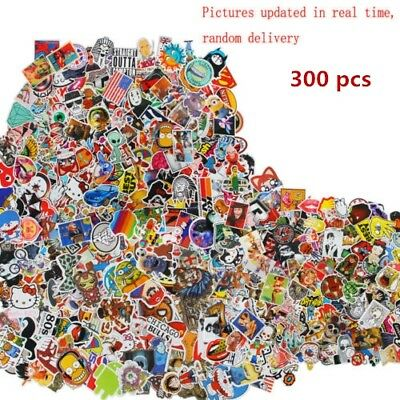 300 random vinyl decal graffiti sticker laptop bomb waterproof stickers skate AU