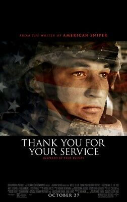 THANK YOU FOR YOUR SERVICE great original 27x40 movie poster