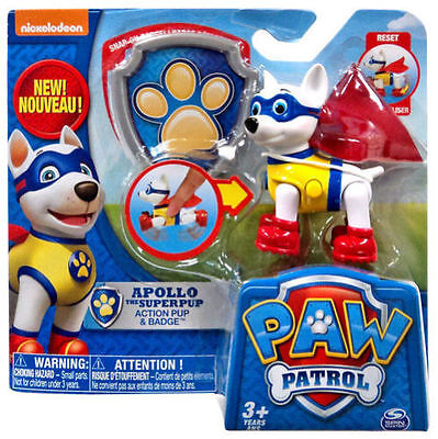 NEW Nickelodeon Nick Jr. Paw Patrol APOLLO The Super Pup Action Pack ...