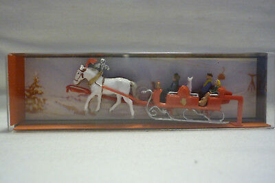 Vintage Merten Figuren Box - Spur H0 - Pferdeschlitten Set - Box 2419 (1.fig-1)