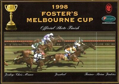 Official Horse Racing VRC 1998 Melbourne Cup Photo Finish 'Jezabeel'