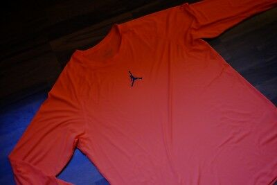 AIR JORDAN Langarm T-Shirt XXL Orange Herren Basketball E2
