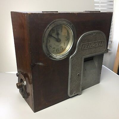 Vintage National Machine Clocking In Machine Time Recorder