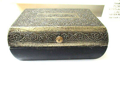 Textura interiors Wood / Metal Jewellery box hand made in India 19cm x13cm x 9cm