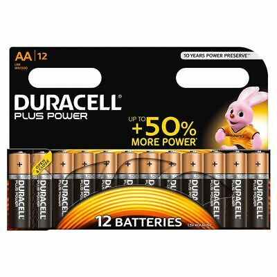 Duracell Plus Power AA Batteries Duralock LR6 MN1500 Alkaline Battery 12 Pack