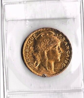 FRENCH   GOLD  20 FRANCS COIN 1905 Nice coin