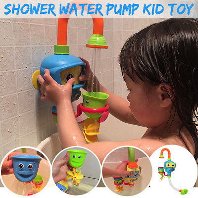 AU Baby Bath Toy Sprinkler Children Bathing Swimming Water Spray Shower Pump Toy