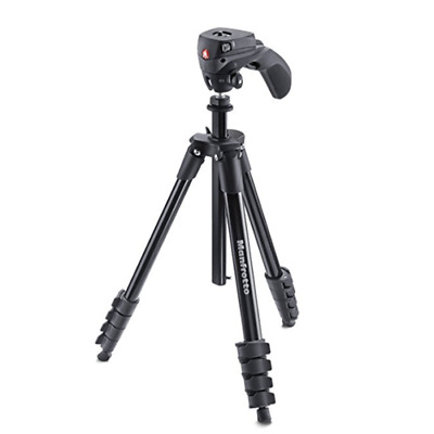 Manfrotto Compact Action Aluminium Tripod with Hybrid Head MKCOMPACTACN-BK Black