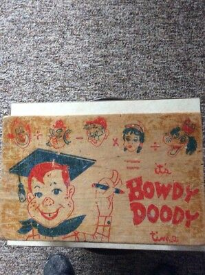 Vintage Howdy Doody Wooden Ware Child's Step Stool Rare