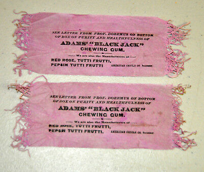 Rare vintage Adams BLACKJACK Chewing gum wrapper box insert National Chicle lot