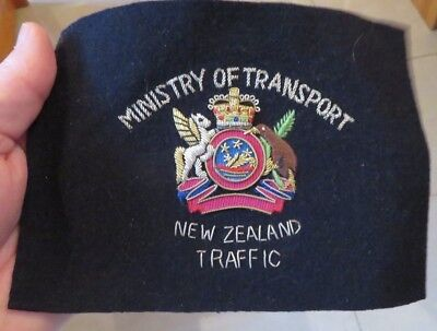 NEUSEELAND NEW ZEALAND Ministry Transport  LARGE Police Patch Polizei Abzeichen