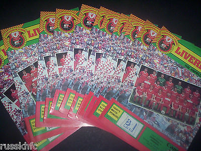 1984/85 - Liverpool Home Programmes Choose From