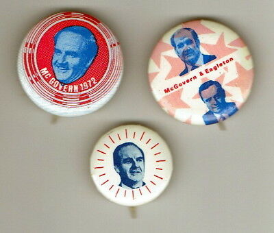 GEORGE McGOVERN ~ Lot of 1972 Presidential Campaign Pins with Eagleton