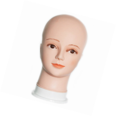 HAIREALM Wig Making Head Bald Mannequin Head Wig Making Display Hat Display Glas