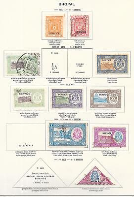 India/BHOPAL stamps 1936 Collection of 10 stamps HIGH VALUE!