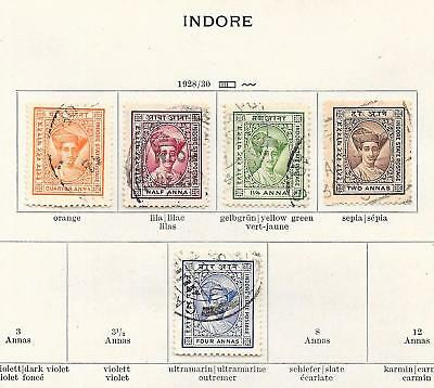 India/HOLKAR stamps 1928 Collection of 5 stamps HIGH VALUE!