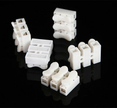 150pcs CH3 Quick Connector cable clamp Terminal Block Spring Connector Wire LED