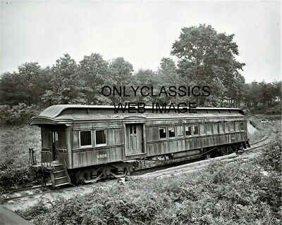 1916 GHOST COACH VINTAGE RAILROAD TRAIN CAR 8x10 PHOTO WASHINGTON & OLD DOMINION