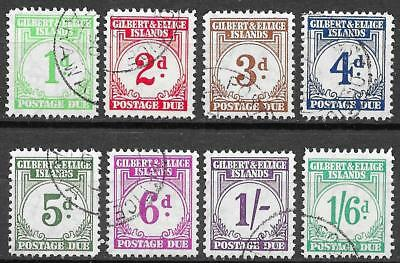 Gilbert&Ellice Islands 1940 SG Due D1-D8 CANC VF