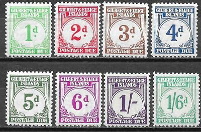 Gilbert&Ellice Islands 1940 SG Due D1-D8 MLH VF