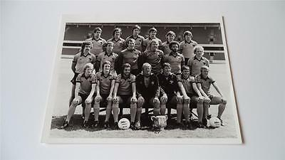 Wolverhampton Wanderers Fc Wolves Fc 1980-81 Squad 1980 League Cup Press Photo