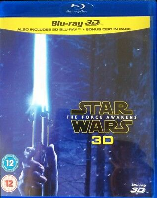 Star Wars: The Force Awakens 3D + 2D Blu-Ray Set BRAND NEW Free Shipping