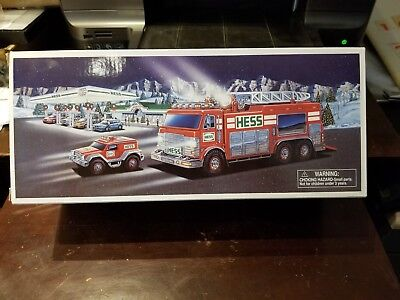 HESS 2005  Emergency Fire Truck with Rescue Vehicle NEW In Box