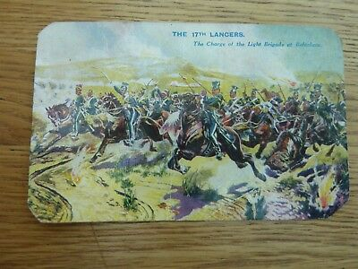 17tH LANCERS CHARGE OF LIGHT BRIGADE BATTLES FOR THE FLAG COLOUR CARD