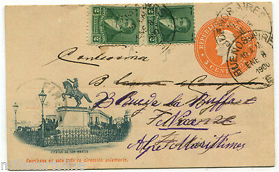 Stamps Argentina Postal Card Buenos Aires To Verbo Hungary 1911