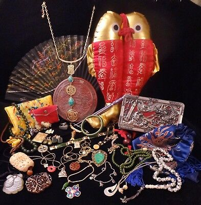 Unique Mixed LOT of Vintage & Modern ASIAN, ORIENTAL, FAR EAST Theme JEWELRY