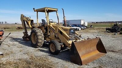 Ford 555B Loader Backhoe Tractor Diesel Runs And Operates Needs Work!!!!