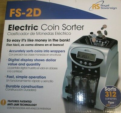 NEW Royal Sovereign Electric Coin Sorter FS-2D
