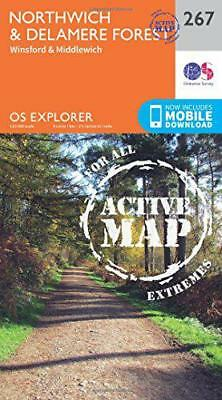 OS Explorer Map Active (267) Northwich and Delamere Forest (OS Explorer Active M