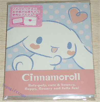 2016 Sanrio Cinnamoroll Dog mini memo Message Letter Set with stickers